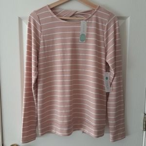 NWT Pink Clover Payson Twist Back Top Size Small